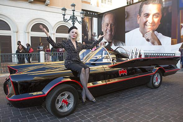 Legendary Catwoman Julie Newmar Revisits Famed Role Alongside Batmobile at Animazing Gallery Inside Grand Canal Shoppes at The Venetian and The Palazzo Las Vegas