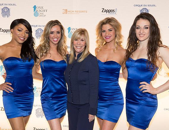 Anita Mann and the girls of FANTASY at Luxor at One Night for One Drop