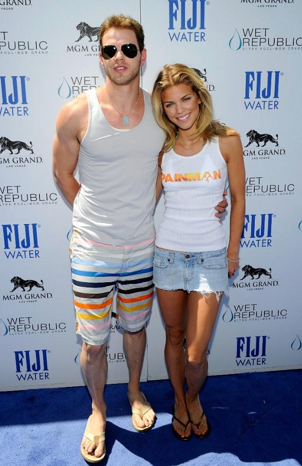 AnnaLynne McCord and Kellan Lutz on Blue Carpet at WET REPUBLIC