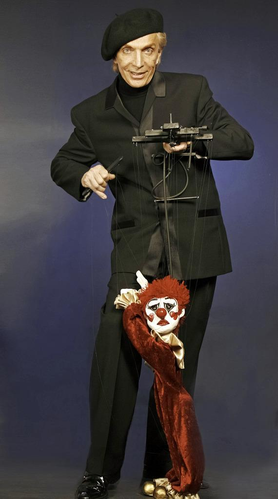 "Anthony Rais and his marionettes including Totolino were featured in ""Cirque Couture"" at The Smith Center."