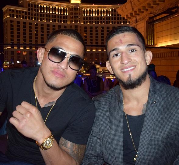 UFC Fighters and Brothers, Anthony and Sergio Pettis, Host After-Fight Party at Chateau Nightclub & Rooftop at Paris Las Vegas