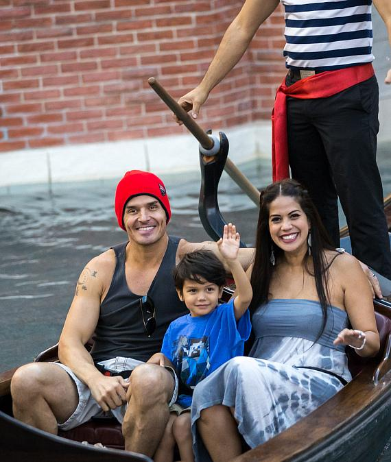 Antonio Sabàto Jr. and Cheryl Moana Marie enjoy gondola ride at The Venetian Las Vegas