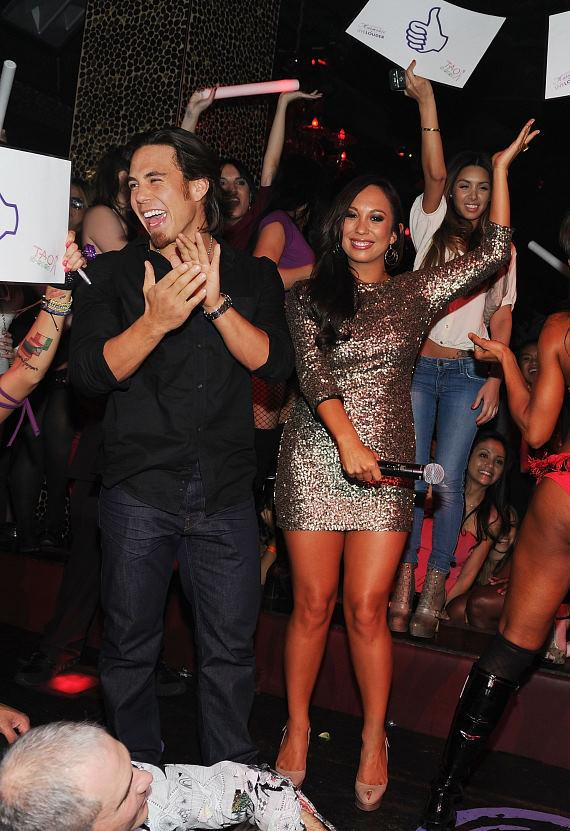 Apolo Ohno with Cheryl Burke at TAO