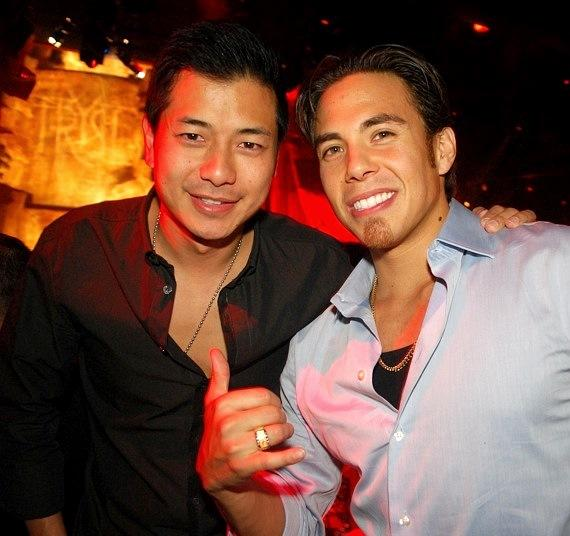 Apolo Ohno and friend at Tryst