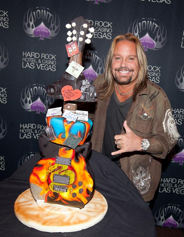 Motley Crue Frontman Vince Neil Celebrates 51st Birthday at The Joint Inside Hard Rock Hotel & Casino