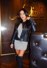 UFC Ring Girl Arianny Celeste dines at Andiamo Italian Steakhouse inside the D Las Vegas