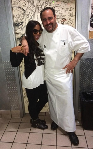 Ashanti Dines at N9NE Steakhouse inside Palms Casino Resort