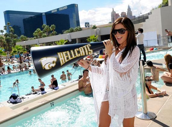 Ashley Tisdale and Cast of CW's Hellcats Celebrate at WET REPUBLIC and Tabú Ultra Lounge