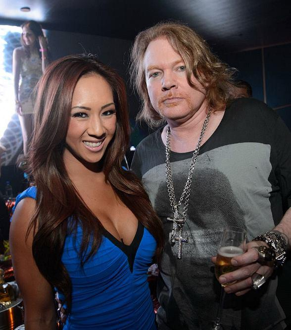 Ashley Vu with Axl Rose at Hakkasan Las Vegas