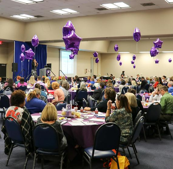 Attendees listen at the 14th annual Education Conference presented by Affinity Gaming and Alzheimer's Association