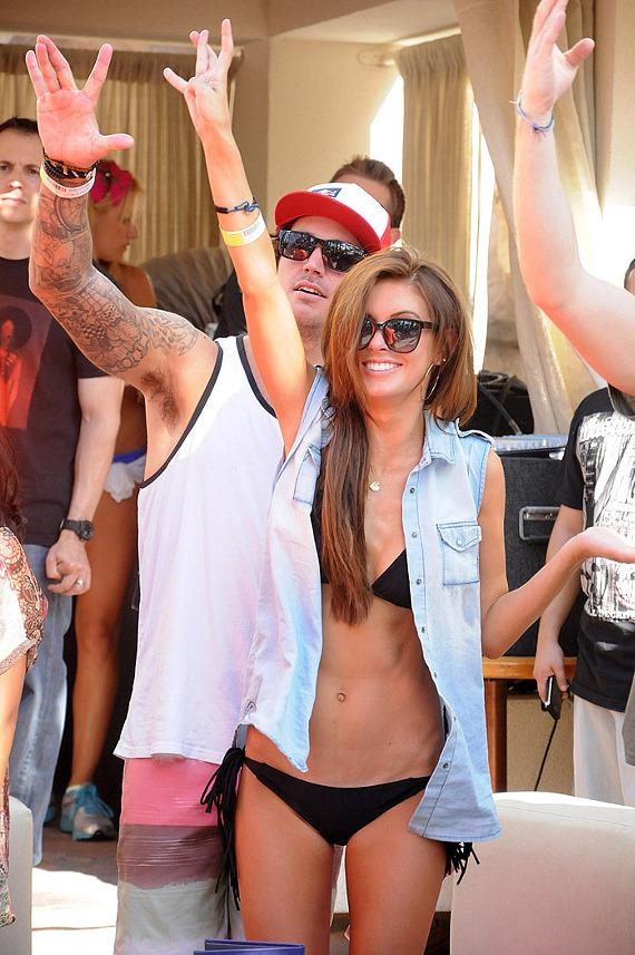 Audrina Patridge and boyfriend Corey Bohan at Rehab at Hard Rock Hotel