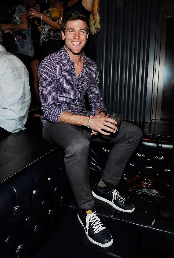 Austin Stowell Parties in lavish VIP section at Chateau Nightclub & Gardens