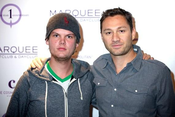Avicii with Jason Strauss at Marquee