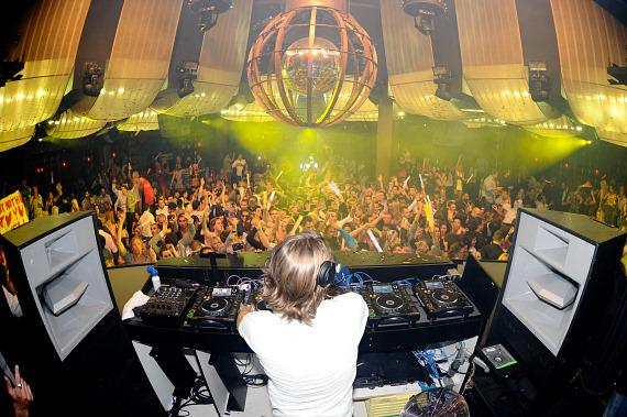 Axwell spins at Marquee Nightclub