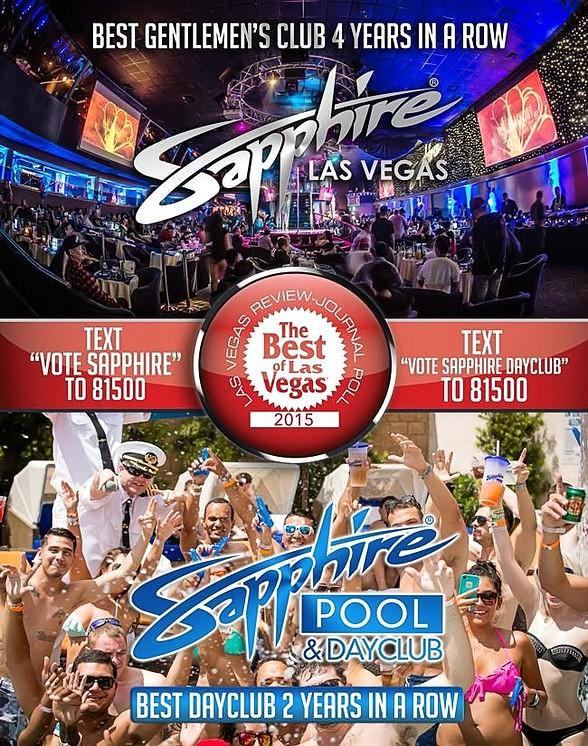 """Sapphire Pool & Day Club, Voted """"Best Day Club in Las Vegas"""" Two Years in a Row, Opens for Fun in the Sun on May 1"""