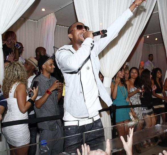 B.o.B performs at PURE Nightclub