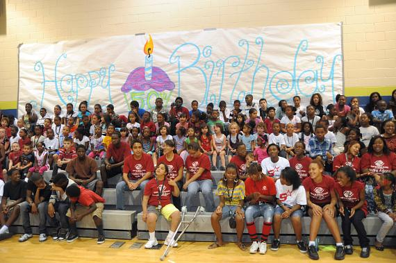 Agassi club kids get in place for the 50th birthday celebration