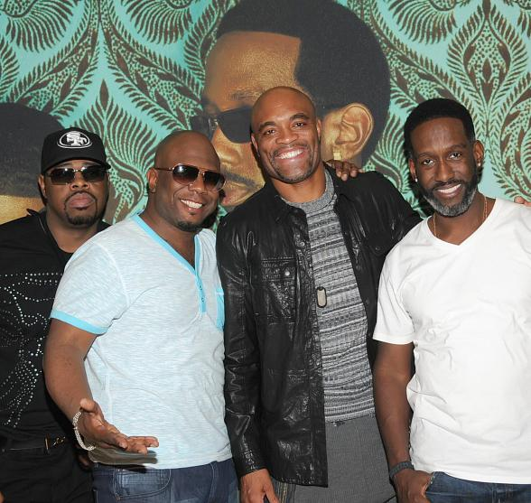 Anderson Silva Attends Boyz II Men Show at The Mirage