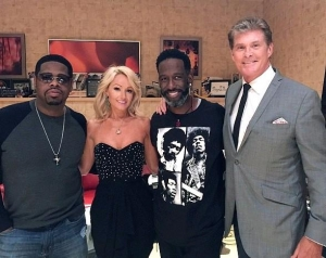 David Hasselhoff attends Boyz II Men show at The Mirage