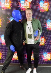Vegas Golden Knights Goaltender Oscar Dansk Attends Blue Man Group at Luxor Hotel and Casino
