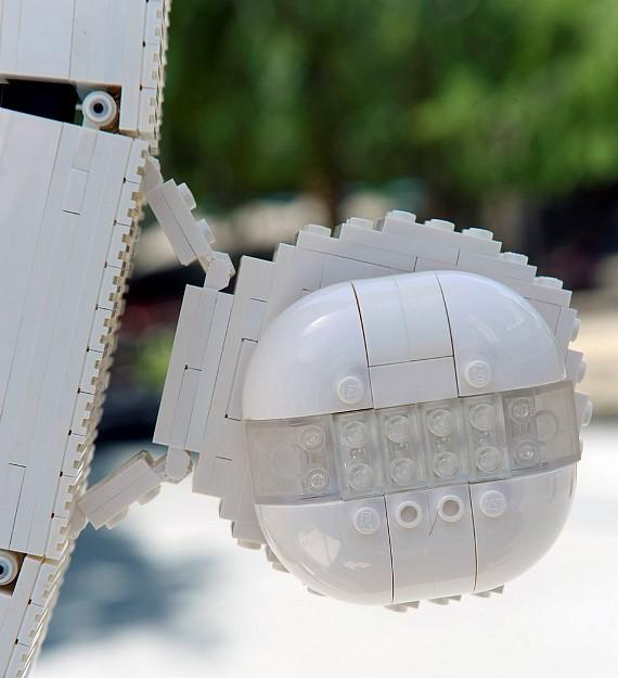 High Roller model pod made with standard LEGO components