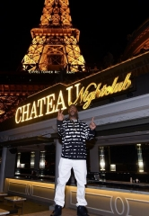New England Patriots' Malcom Butler Celebrates at Chateau Nightclub in Las Vegas
