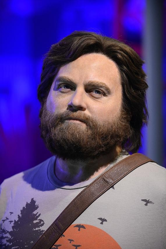 """New Wax Figure of Zach Galifianakis as """"Alan"""" in The Hangover Experience at Madame Tussauds at The Venetian"""