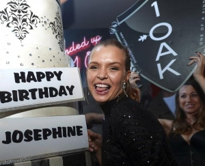 Model Josephine Skriver celebrates her birthday at 1 OAK Nightclub at The Mirage Hotel & Casino on April 8, 2016