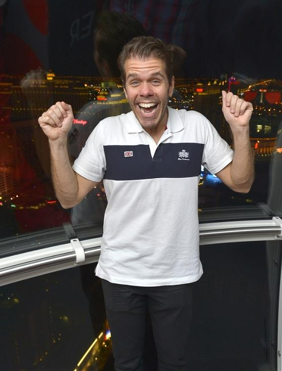 Perez Hilton rides The High Roller at The LINQ in Las Vegas