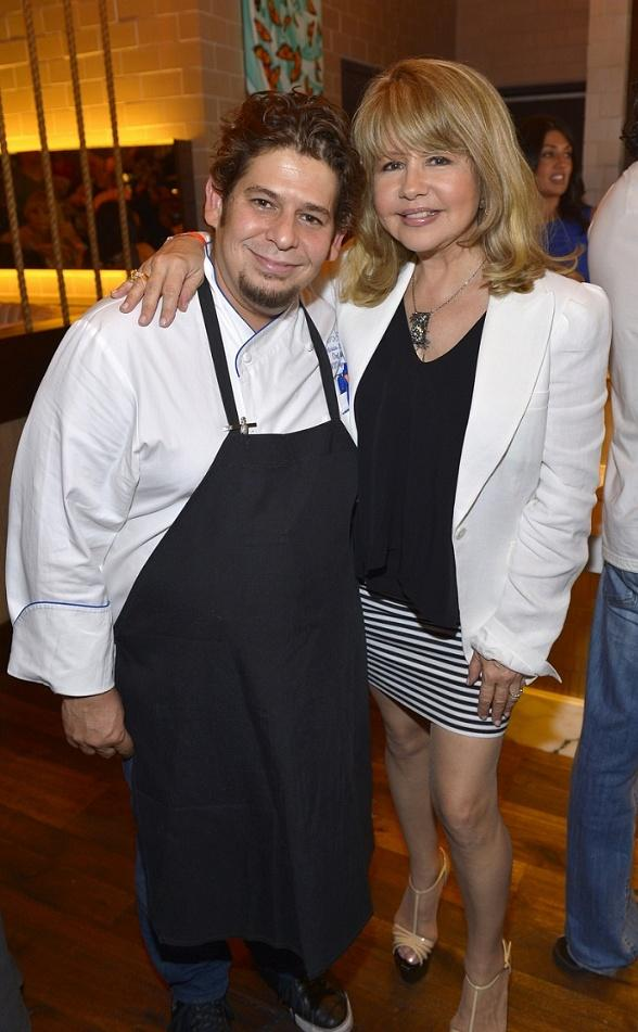 Mercadito Chef/Partner Patricio Sandoval and Pia Zadora