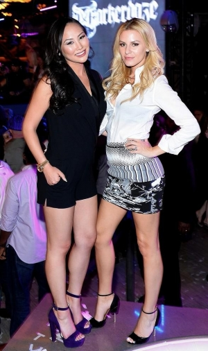 Morgan Stewart and Dorothy Wang host Spring Break Bash in Chateau Nightclub at Paris Las Vegas