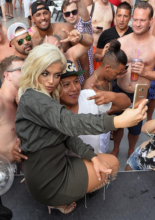 Singer / Songwriter Bebe Rexha Performs Live at the Flamingo GO Pool in Las Vegas