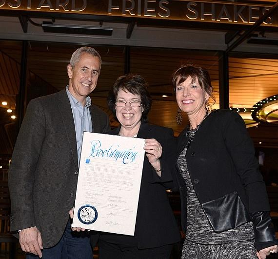 Danny Meyer, Commissioner Mary Beth Scow, Cynthia Kiser Murphey