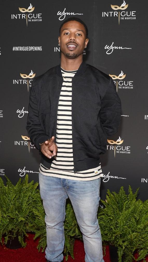 Actor Michael B. Jordan arrives at the grand opening of Intrigue Nightclub at Wynn Las Vegas on April 29, 2016 in Las Vegas