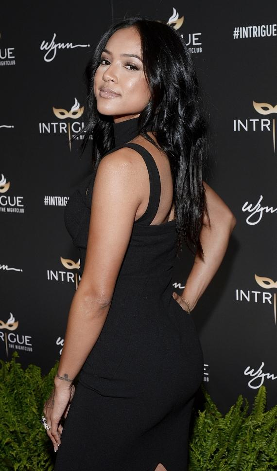 Model/actress Karreuche Tran arrives at the grand opening of Intrigue Nightclub at Wynn Las Vegas on April 29, 2016 in Las Vegas
