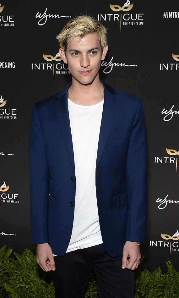 Singer/model Nick Hissom arrives at the grand opening of Intrigue Nightclub at Wynn Las Vegas on April 29, 2016 in Las Vegas