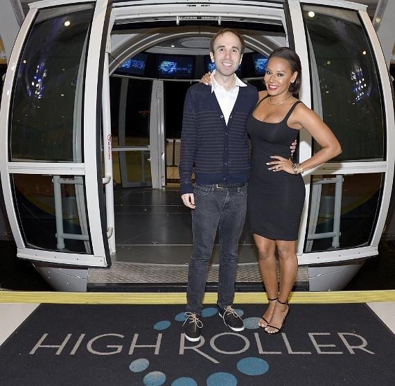 """America's Got Talent"" Season 8 Runner-Up Taylor Williamson and Mel B get ready to ride the High Roller at The LINQ Promenade in Las Vegas"