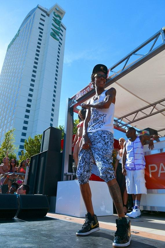 Wiz Khalifa performs at Palms Pool in Las Vegas