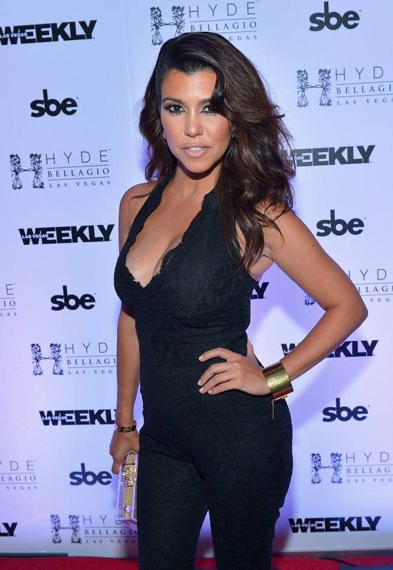 Kourtney Kardashian on red carpet at Hyde Bellagio in Las Vegas