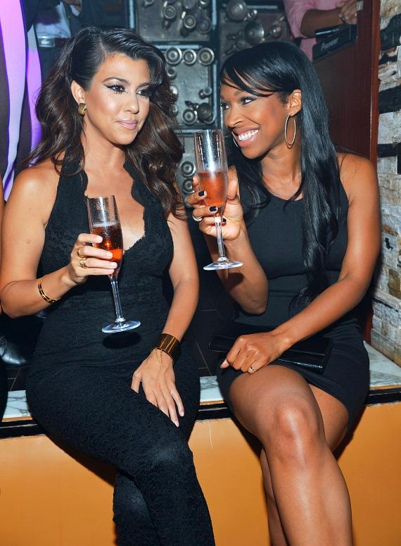 Kourtney Kardashian and Malika Haqq party at Hyde Bellagio in Las Vegas