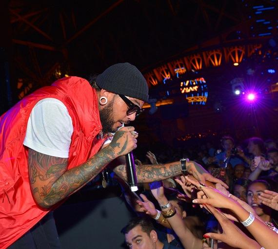 Travie McCoy performs at Chateau Nightclub & Gardens
