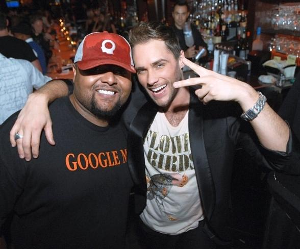 Producer Damon Elliot and Josh Strickland at Blush Boutique Nightclub