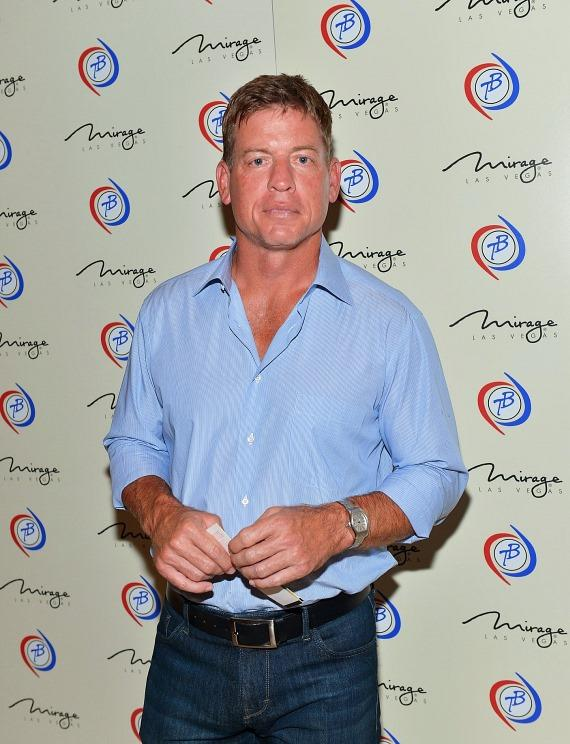 Television personality and former National Football League player Troy Aikman arrives at the 'Terry Bradshaw: America's Favorite Dumb Blonde... A Life in Four Quarters' show premier at The Mirage Hotel & Casino