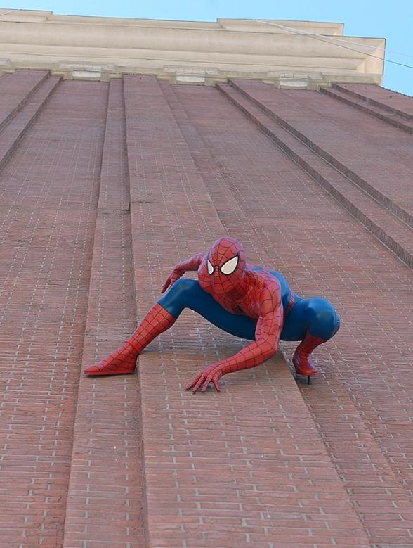 Spider-Man Seen Clinging to The Venetian Las Vegas