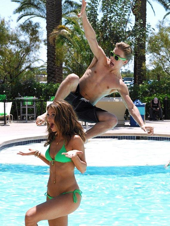Maria Menounos and Derek Hough at Mandalay Bay Resort & Casino