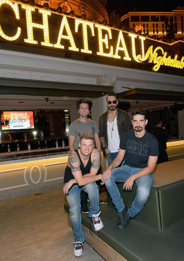 Backstreet Boys outside Chateau Nightclub
