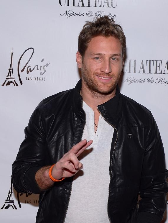 Juan Pablo Galavis on red carpet at Chateau Nightclub and Rooftop
