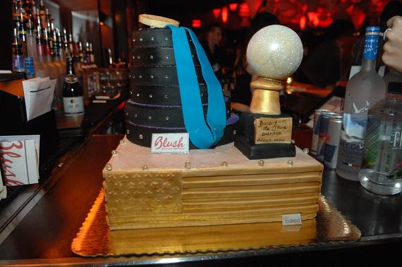 Apolo Ohno's birthday cake at Blush Boutique Nightclub