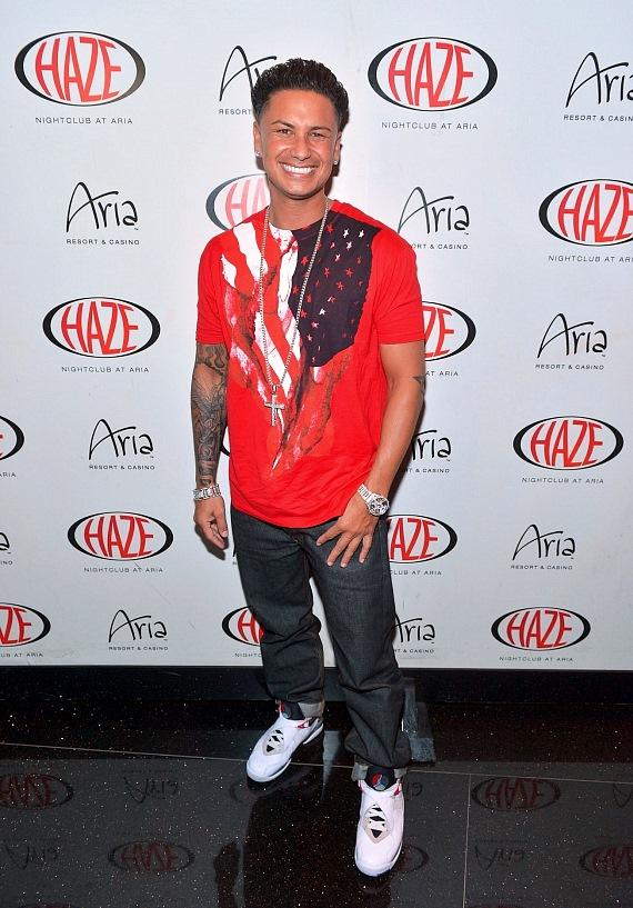 Pauly D arrives at Haze Nightclub