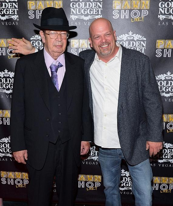 "Richard ""Old Man"" Harrison and Rick Harrison of Pawn Stars"